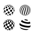 set of minimalistic shapes black and white vector image