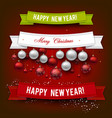 set of ribbons labels tags merry christmas vector image