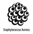 staphylococcus aureus icon simple style vector image