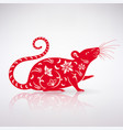 stylized rat icon vector image