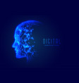 technology digital face artificial intelligence vector image vector image