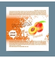 Template candy packaging Peach sweets vector image vector image