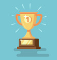 trophy icon with number one vector image vector image