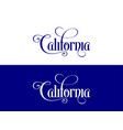 typography of the usa california states vector image vector image