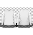 white long sleeve t-shirt front and back side vector image
