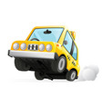 yellow cab taxi car icon transportation city urban vector image vector image