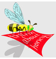 bee think about honey vector image