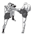 muay thai fighters vector image