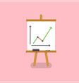 office white board in flat style vector image