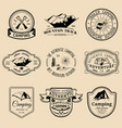 set of vintage camping logos tourism vector image