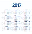 2017 CalendarModern and simple calendar 2017 vector image