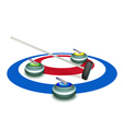 A Collection of Curling Stones on Ice Sheet vector image