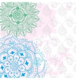 abstract pattern of a tattoo henna vector image vector image