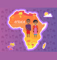 africa continent african people national vector image vector image