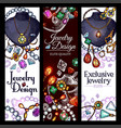 banners of jewelry fashion accessories vector image vector image