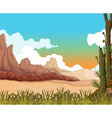 beauty landscape background with desert vector image