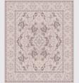 beige oriental carpet vector image