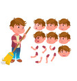 boy child kid teen expression vector image vector image
