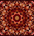 brown seamless kaleidoscope pattern background vector image vector image