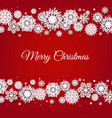 christmas border with white snowflakes vector image