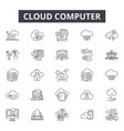 cloud computing line icons signs set vector image vector image
