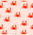 crab seamless pattern fabric and wrapping paper vector image