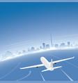 dublin skyline flight destination vector image