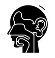ear nose and throat - ent icon vector image