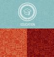 educational logo design vector image vector image