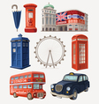 Famous London sights vector image vector image