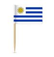 flag uruguay vector image vector image