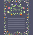 floral frame on a card vector image