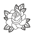 floral tattoo isolated icon design vector image vector image