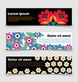floral template bright poppy camomile leaves vector image vector image