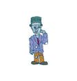 Frankenstein Monster Standing Cartoon vector image vector image