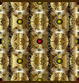 gold greek 3d geometric seamless pattern vector image