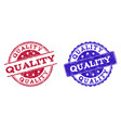 grunge scratched quality stamp seals vector image vector image