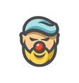 happy clown face icon cartoon vector image vector image