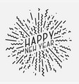 happy new year poster card banner trendy vector image