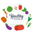 healthy food vegetables concept vector image vector image