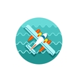 Hydroplane icon Summer Vacation vector image vector image
