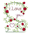 i love you with flourishes vector image