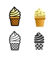 Ice cream colored icon set vector image vector image