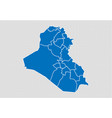 iraq map - high detailed blue map with vector image vector image