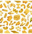 italian pasta seamless pattern background vector image vector image