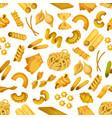 italian pasta seamless pattern background vector image
