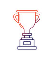 line prize symbol to winner champion vector image vector image