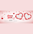 love or wedding social media banner cover vector image vector image