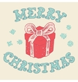 Merry christmas Card Christmas Greeting Card vector image vector image