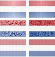Mosaic Netherlands flag set vector image vector image
